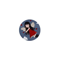 Cupid Girl 1  Mini Buttons by Valentinaart