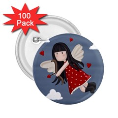 Cupid Girl 2 25  Buttons (100 Pack)  by Valentinaart
