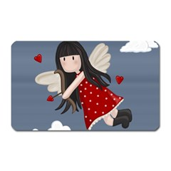 Cupid Girl Magnet (rectangular) by Valentinaart