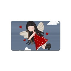 Cupid Girl Magnet (name Card) by Valentinaart
