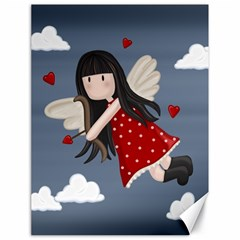 Cupid Girl Canvas 18  X 24   by Valentinaart