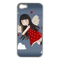 Cupid Girl Apple Iphone 5 Case (silver) by Valentinaart