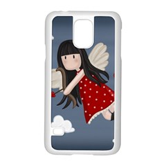 Cupid Girl Samsung Galaxy S5 Case (white) by Valentinaart