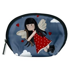 Cupid Girl Accessory Pouches (medium)  by Valentinaart