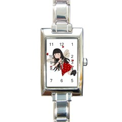 Cupid Girl Rectangle Italian Charm Watch by Valentinaart
