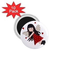 Cupid Girl 1 75  Magnets (10 Pack)  by Valentinaart
