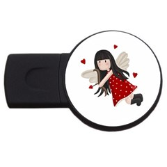 Cupid Girl Usb Flash Drive Round (4 Gb) by Valentinaart