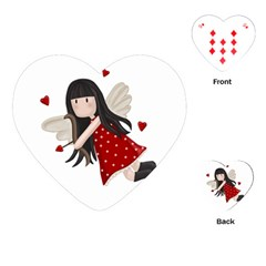 Cupid Girl Playing Cards (heart)  by Valentinaart