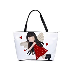 Cupid Girl Shoulder Handbags by Valentinaart