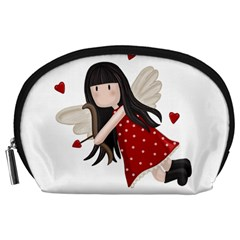 Cupid Girl Accessory Pouches (large)  by Valentinaart
