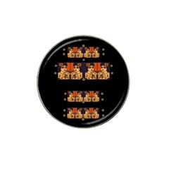 Geisha With Friends In Lotus Garden Having A Calm Evening Hat Clip Ball Marker (4 Pack) by pepitasart