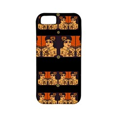 Geisha With Friends In Lotus Garden Having A Calm Evening Apple Iphone 5 Classic Hardshell Case (pc+silicone) by pepitasart