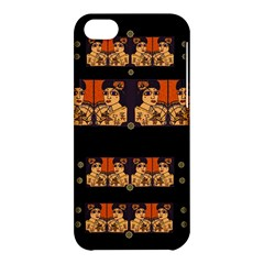 Geisha With Friends In Lotus Garden Having A Calm Evening Apple Iphone 5c Hardshell Case by pepitasart