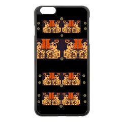Geisha With Friends In Lotus Garden Having A Calm Evening Apple Iphone 6 Plus/6s Plus Black Enamel Case by pepitasart