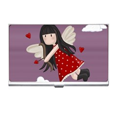 Cupid Girl Business Card Holders by Valentinaart