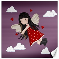 Cupid Girl Canvas 16  X 16   by Valentinaart