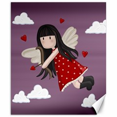 Cupid Girl Canvas 20  X 24   by Valentinaart
