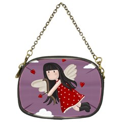 Cupid Girl Chain Purses (one Side)  by Valentinaart