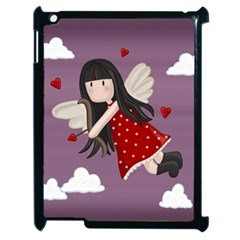 Cupid Girl Apple Ipad 2 Case (black) by Valentinaart