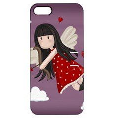 Cupid Girl Apple Iphone 5 Hardshell Case With Stand