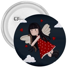 Cupid Girl 3  Buttons by Valentinaart