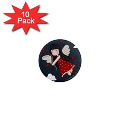 Cupid Girl 1  Mini Magnet (10 Pack)  by Valentinaart