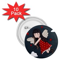Cupid Girl 1 75  Buttons (10 Pack) by Valentinaart