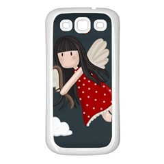 Cupid Girl Samsung Galaxy S3 Back Case (white) by Valentinaart