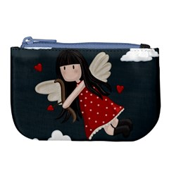 Cupid Girl Large Coin Purse by Valentinaart