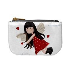 Cupid Girl Mini Coin Purses by Valentinaart