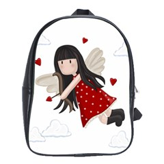 Cupid Girl School Bag (large) by Valentinaart