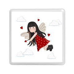 Cupid Girl Memory Card Reader (square)  by Valentinaart