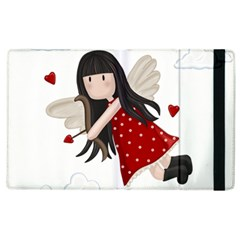 Cupid Girl Apple Ipad 2 Flip Case by Valentinaart