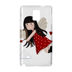 Cupid Girl Samsung Galaxy Note 4 Hardshell Case by Valentinaart
