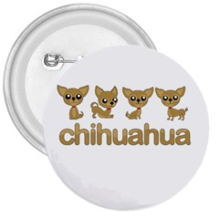 Chihuahua 3  Buttons by Valentinaart