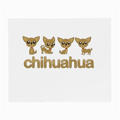 Chihuahua Small Glasses Cloth (2 Side) by Valentinaart