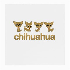 Chihuahua Medium Glasses Cloth (2 Side) by Valentinaart