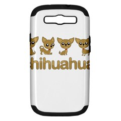 Chihuahua Samsung Galaxy S Iii Hardshell Case (pc+silicone) by Valentinaart