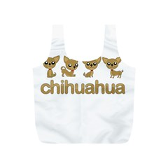 Chihuahua Full Print Recycle Bags (s)  by Valentinaart