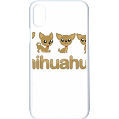 Chihuahua Apple Iphone X Seamless Case (white) by Valentinaart