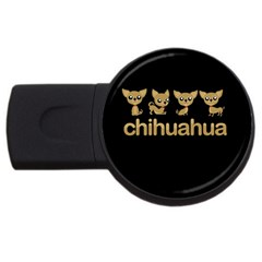 Chihuahua Usb Flash Drive Round (2 Gb) by Valentinaart