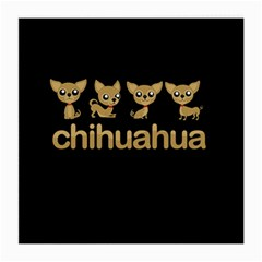 Chihuahua Medium Glasses Cloth by Valentinaart