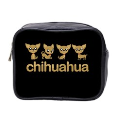 Chihuahua Mini Toiletries Bag 2 Side by Valentinaart