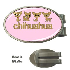 Chihuahua Money Clips (oval)  by Valentinaart