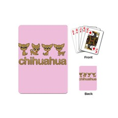 Chihuahua Playing Cards (mini)  by Valentinaart