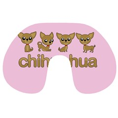 Chihuahua Travel Neck Pillows by Valentinaart