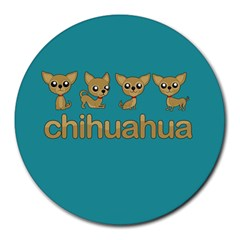 Chihuahua Round Mousepads by Valentinaart