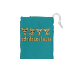 Chihuahua Drawstring Pouches (small)  by Valentinaart