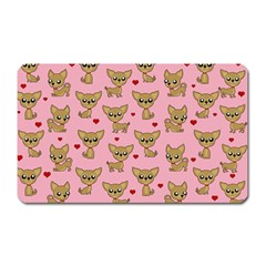 Chihuahua Pattern Magnet (rectangular) by Valentinaart