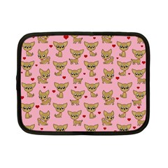 Chihuahua Pattern Netbook Case (small)  by Valentinaart